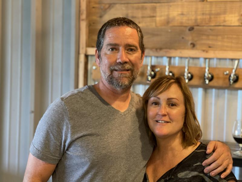 Phillip and Monica on Opening Day of Hawkins Farmhouse Ales