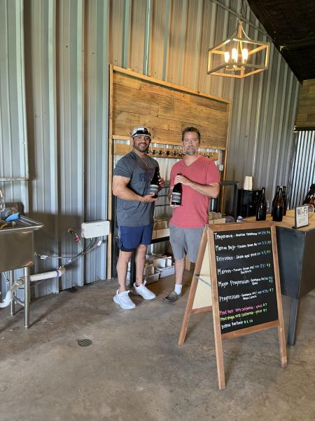 Phillip and Hawkins Farmhouse Ales FIRST Customer on June 5th, 2021